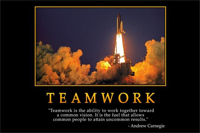 diy frame teamwork andrew carnegie inspirational motivational poster art silk wall cloth posters and prints