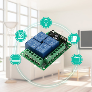Image 2 - KTNNKG DC 12V 10A 4CH Wireless Remote Switch Relay Module Smart Home Automation Multi fonction Motor Controller 433MHz Receiver