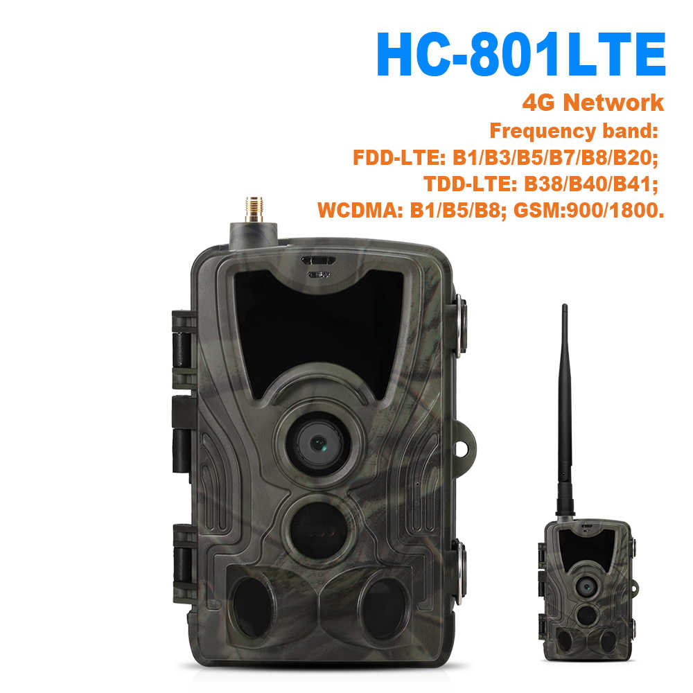 HC801 4G MMS SMS Trail Camera 16MP 1080P Infrared Night Vision Hunting Camera PIR Wildlife Camera Photo Traps 0.3s Trigger