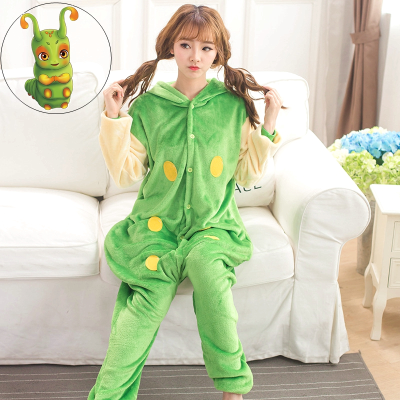 Cute Insect Worm Units Kengurumi Onesie Adult Pyjamas Animal Womens Pajamas Pijama Pijam ...