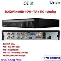 8ch 1080 P dvr сети 5in1 NVR для AHD CVI TVI IP 960 H Камера ONVIF CCTV XVR для 5MP TVI Камера 4MP 3MP 2MP AHD Камера безопасности