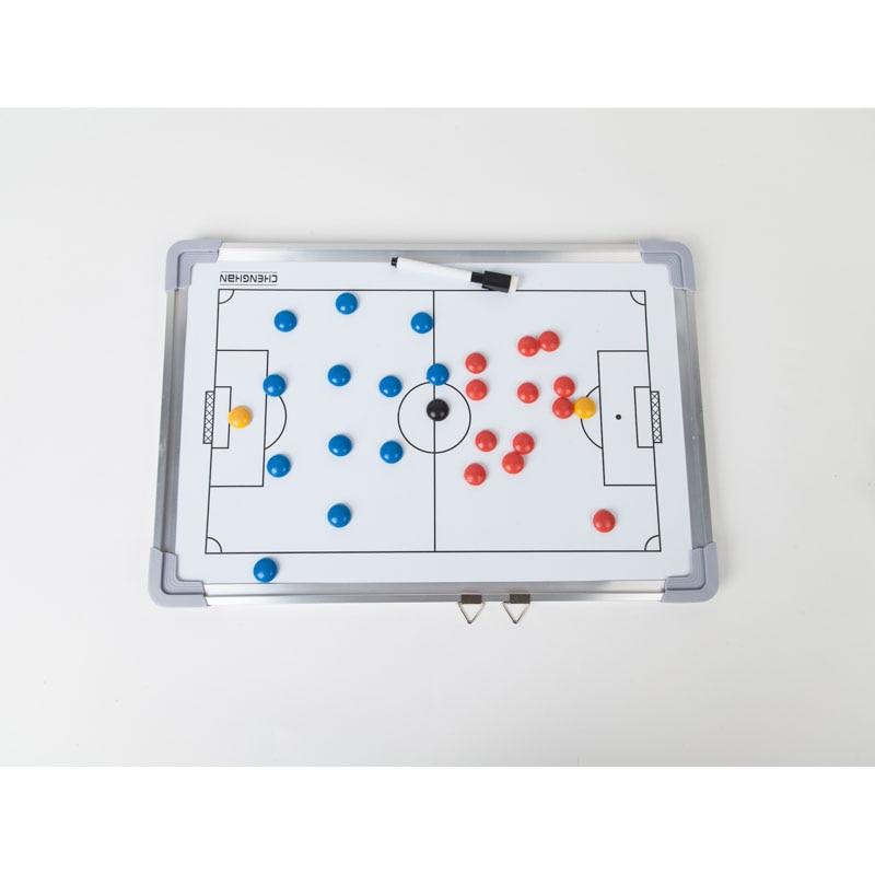 Tablero de entrenamiento de fútbol de MAICCA Juego de libro grande de placa táctica súper magnética con bolígrafo Tablero de entrenamiento Tablero de entrenamiento de fútbol