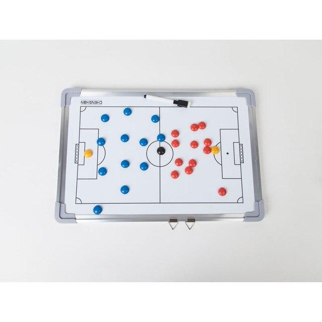 MAICCA Futebol placa Tactical Board Treinamento Super Magnética Prancheta  grande set livro com Caneta Ensino Técnico a1afe31919c75