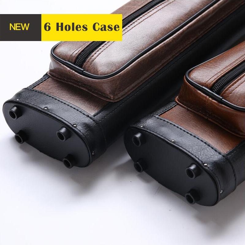 2018 New Arrival 6 Holes Pool Cue Case Pool Stick Carring Bag Billiard Kit Case Durable