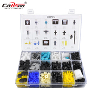 730PCS Mixed Auto Fastener 17 Kinds Most Popular Size Car Universal Bumper Fixed Clamp Push Type