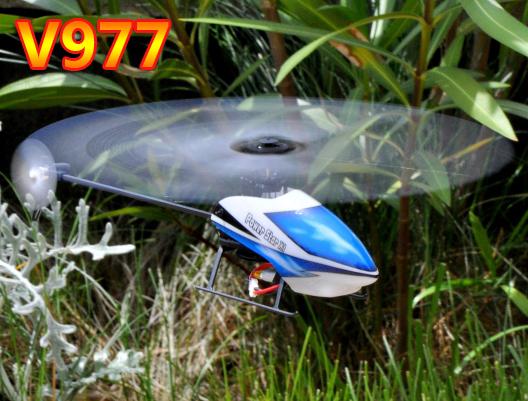 Original WLtoys V977 Power Star X1 6CH 3D sin escobillas Flybarless RC Helicopter RTF helicóptero 2.4 GHz w / 6-axis Gyro ( en la acción )
