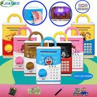 ¡Producto en oferta! Mini caja de seguridad para cajero automático con contraseña electrónica para masticar moneda en efectivo  máquina de regalo para niños