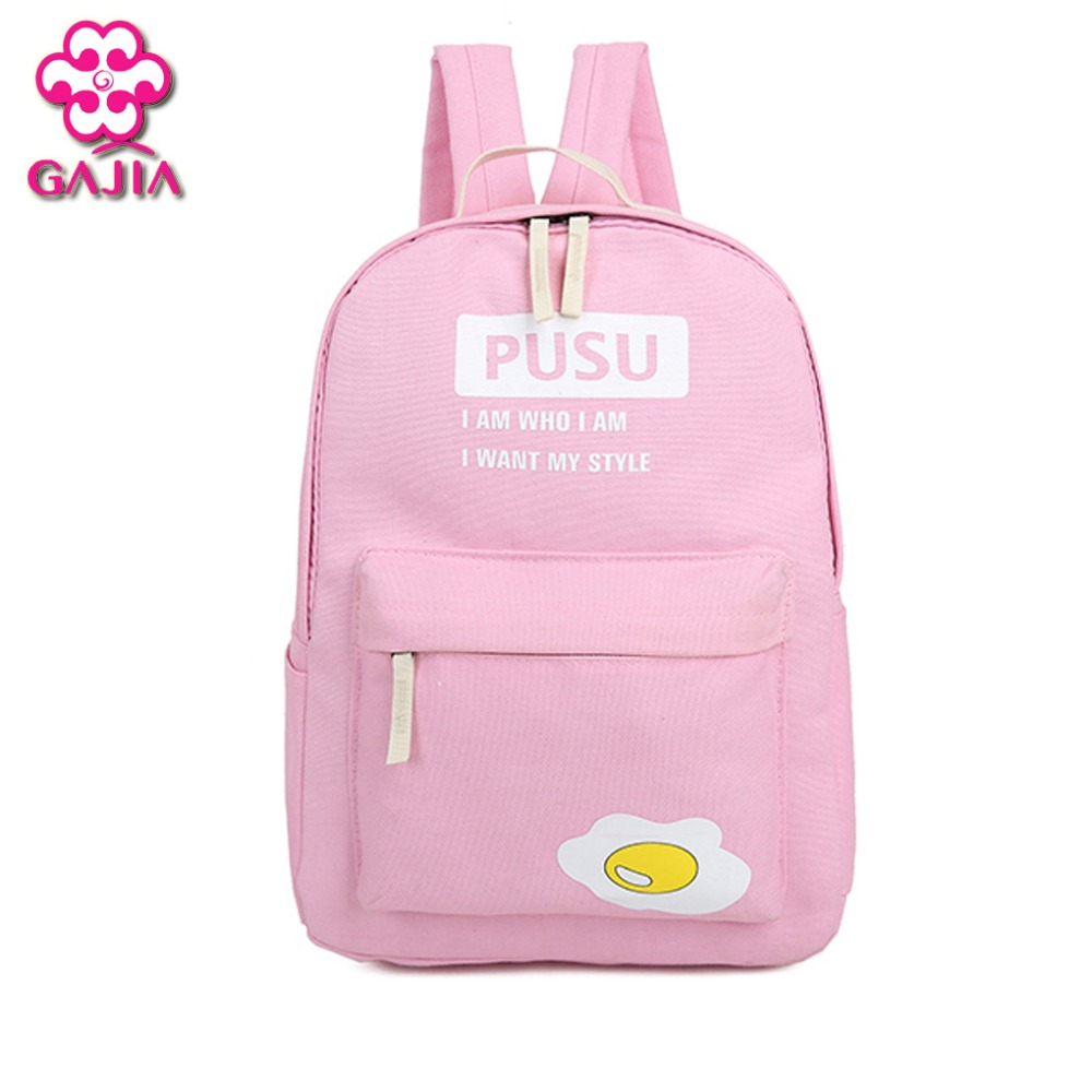Factory Direct Student Book Bag Backpack Colorful High Quality Canvas Small fresh Girl Kawaii Backpack Buy One Get Three