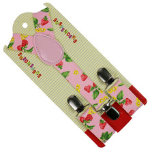 HUOBAO Fashion 2.5cm Wide  Fruits Print Suspenders Baby Boys Clip-on Y-Back Braces Elastic Kids