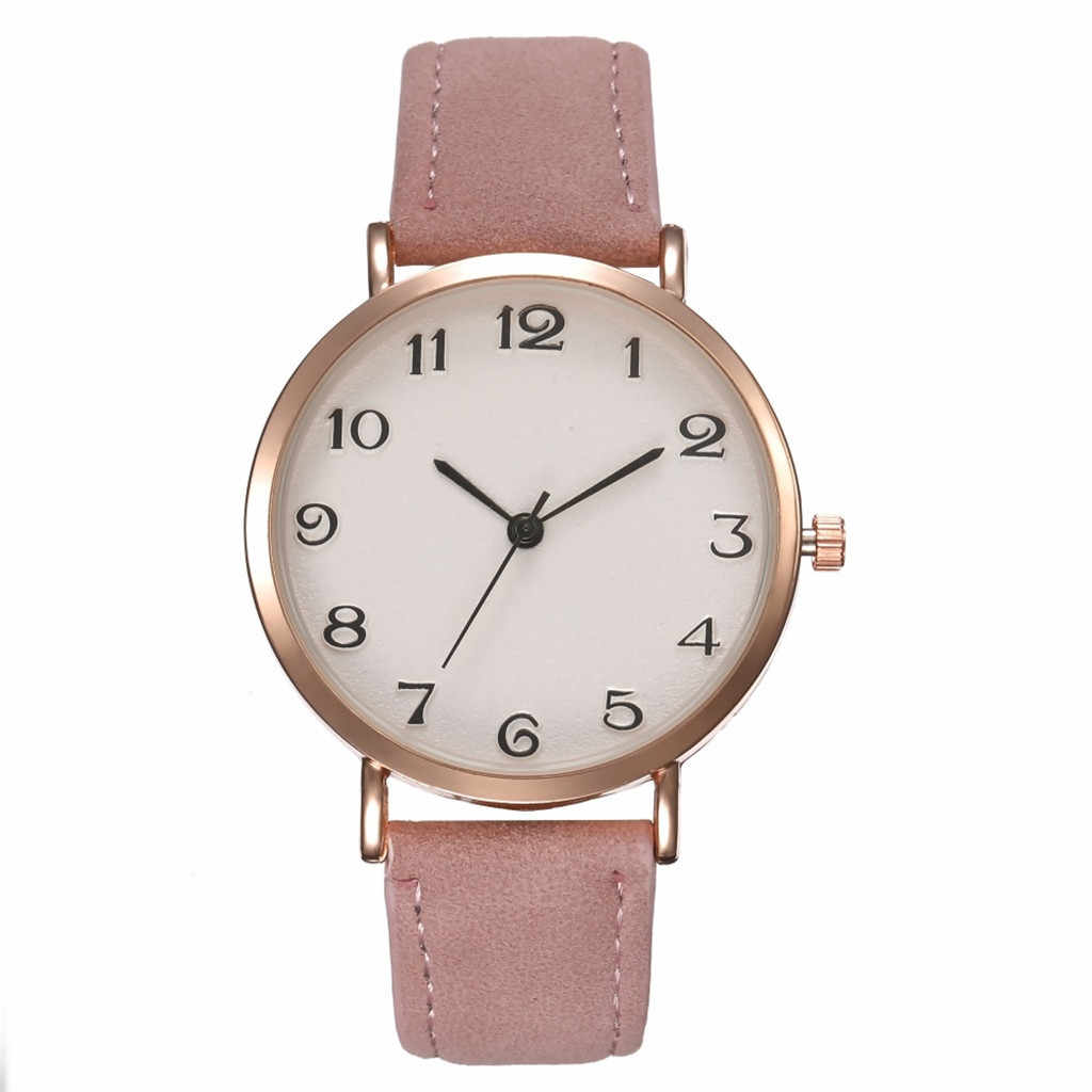 Luxury Brand Women's Watch Simple Style Leather Quartz  Fashion Wristwatch Ladies Watches Clock For Women 4 colors C428