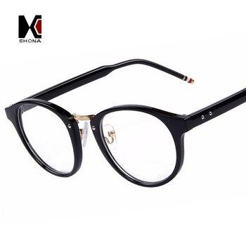 SHAUNA Men Fashion Optical Frames Eyeglasses Fashion Women Eyeglasses Frame Myopia Rivet Frame shauna leopard black