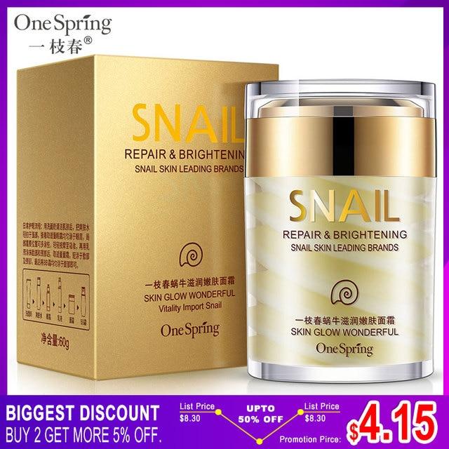 OneSping חילזון קרם נגד קמטים ומזין אקנה טיפול Faical לטיפול בעור פנים תיקון קרם