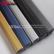 10/20/30/40/50/60x152 CM/LOT Premium Black Dark Grey zilver Metallic Geborsteld Aluminium Vinyl voor auto body decoratie door gratis schip