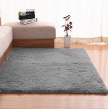 цена Customizable Large Size Plush Shaggy carpet for Living Room Bedroom kids rug home mat non-slip 200*50 200*80 sofa tea table mat онлайн в 2017 году