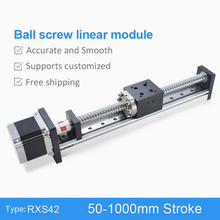 CNC Linear Guide Stage Rail Motion Slide Table Ball Screw Actuator Nema 23 Motor Module for 3d Printer Parts XYZ Robotic Arm Kit цена в Москве и Питере