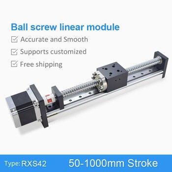CNC lineal guía etapa carril movimiento deslizante de mesa tornillo de la  bola del actuador Nema 23 Motor módulo para 3d piezas de la impresora XYZ