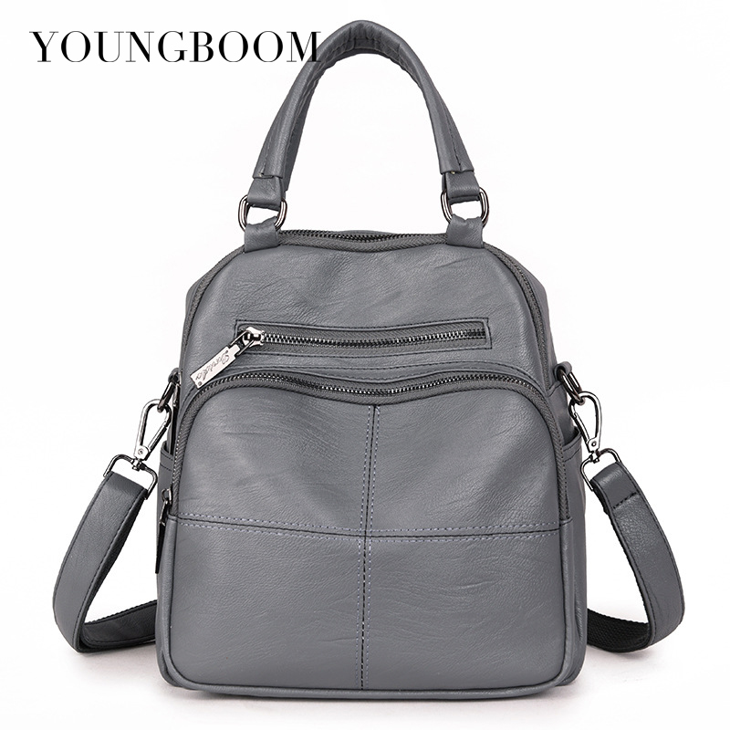 Youngboom Backpack School Bag for Lady Teenagers Girls Backpacks Women Backpacks Fashion Leather Shoulder Bag 2017