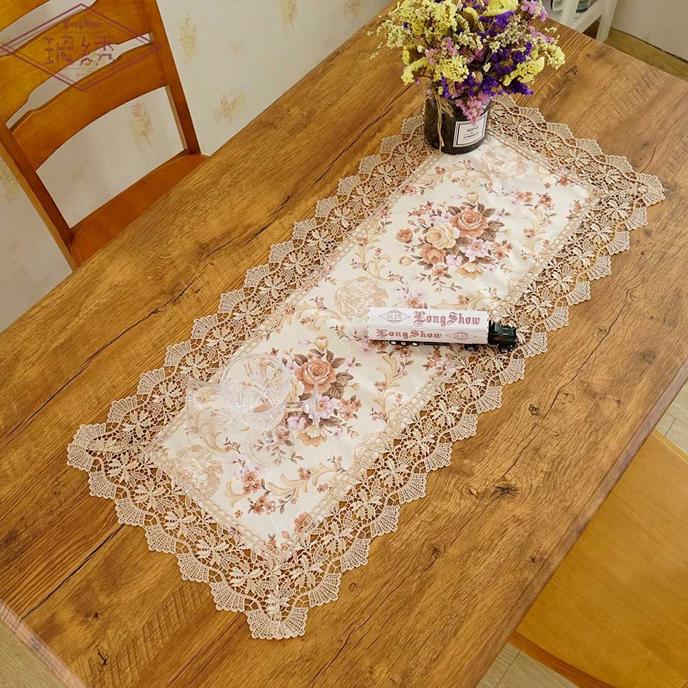 Free Ship Flower Printing Jacquard TV Cabinet Home Wedding Decoration Table Cover Towel Dinning Table Mat  Cloth Runner