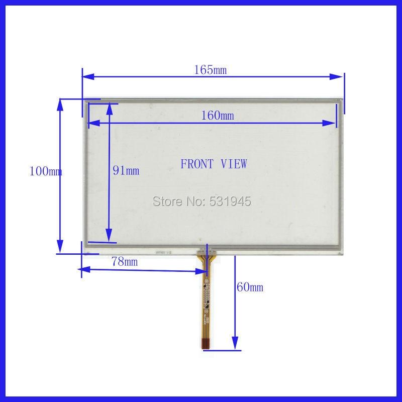 все цены на  ZhiYuSun New 165mm*100mm original handwritten 7 inch car DVD navigation GPS touch screen panel free shipping 165*100  онлайн