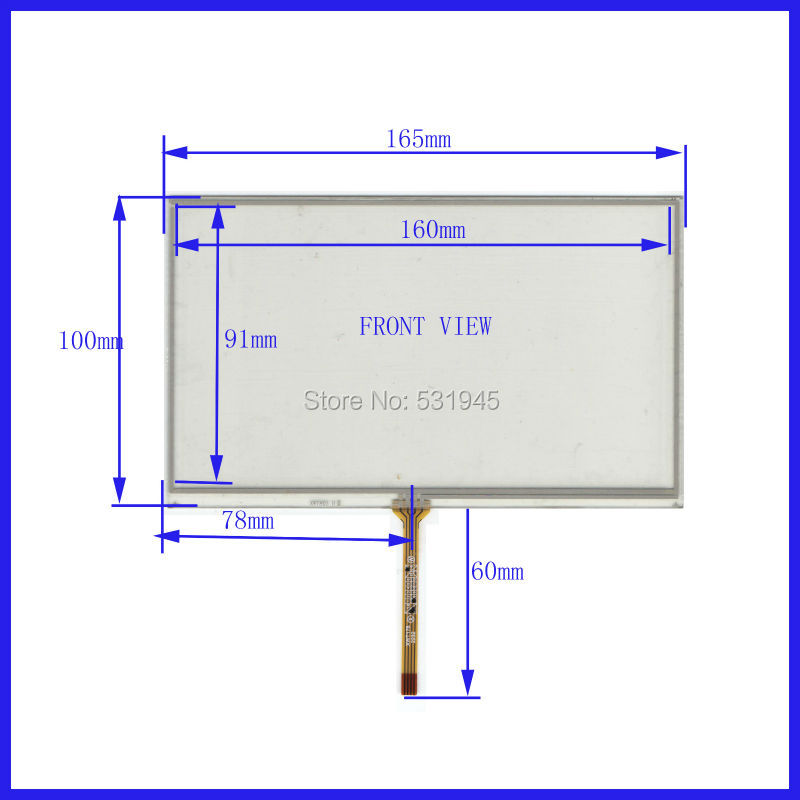 ZhiYuSun New 165mm*100mm original handwritten 7 inch car DVD navigation GPS touch screen panel free shipping 165*100