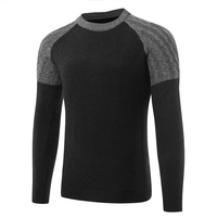 2017 Winter Mens Sweater Thick Warm Solid Color Sweater Men Slim Fit  Sweaters