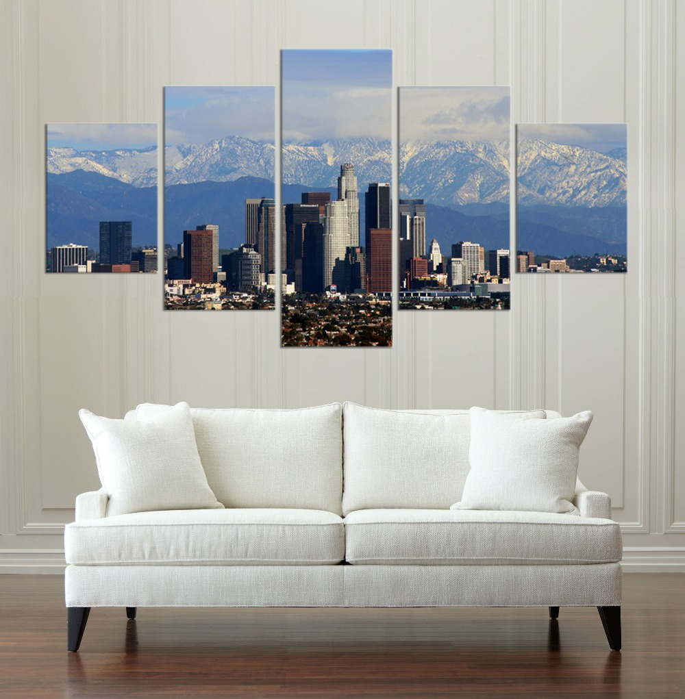Los Angeles Buildings HD Canvas Painting Wall Art Game 5