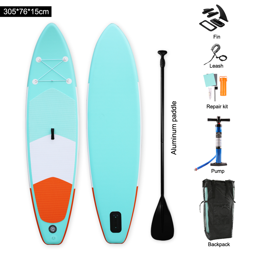 цены на Heytur new design Aqua color Inflatable SUP Stand up Paddle Board iSUP Inflatable Paddle Board