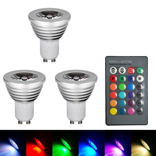 Gu10 Rvb Couleur Changeante Led Ampoule Lampe Avec Telecommande 5