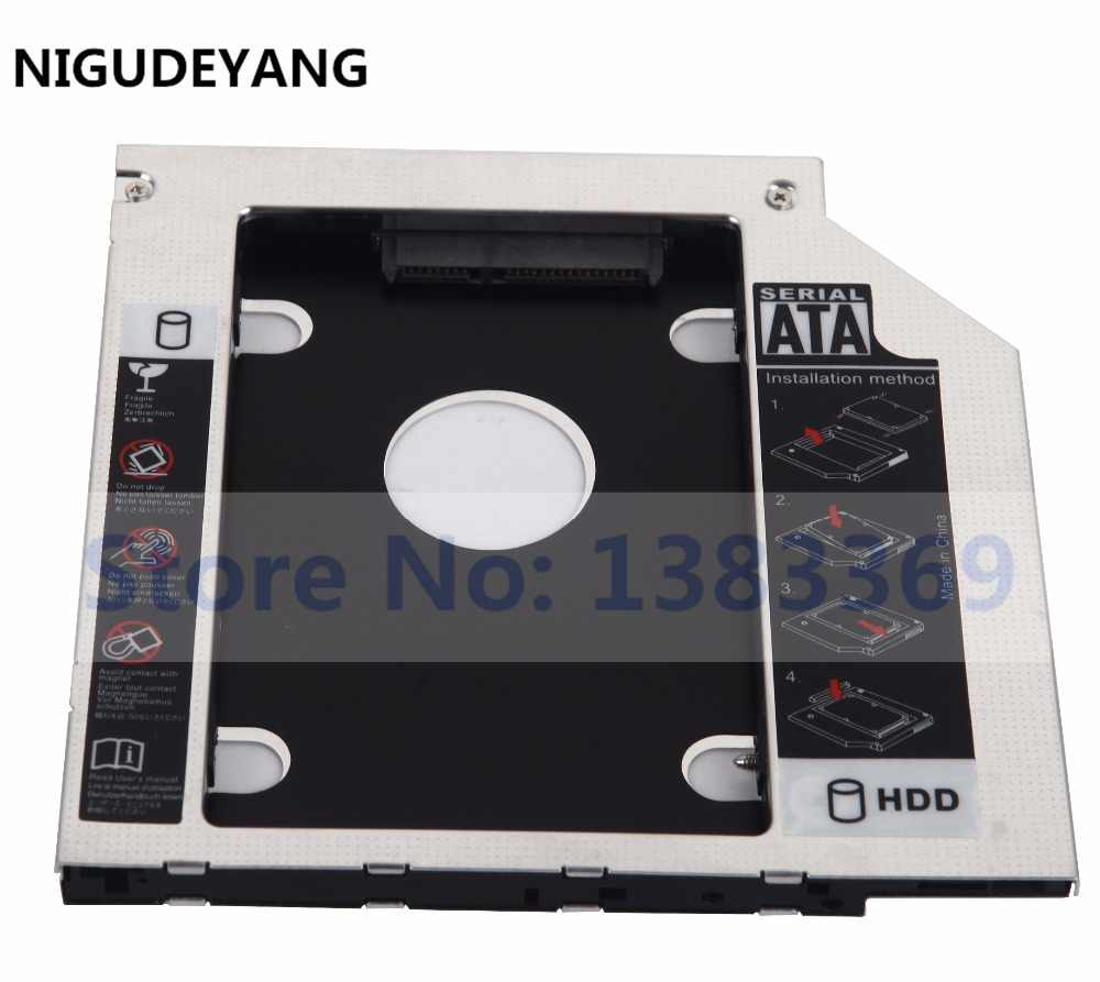 NIGUDEYANG 2nd Hard Disk Drive SSD HDD Adapter Caddy para Fujitsu Lifebook S760 S761 S762
