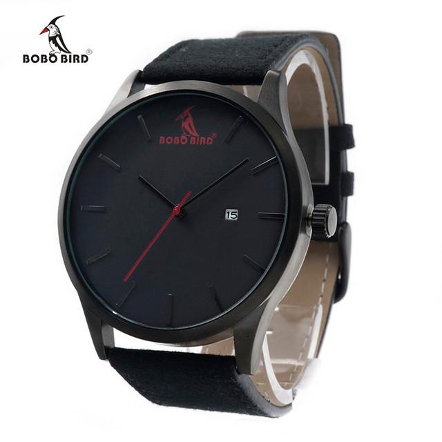 BOBO PÁSSARO G15 Marca Homens Moda De Luxo Relógios de Quartzo Homens de Negócios Militar Relógios relogio masculino de Couro 2016