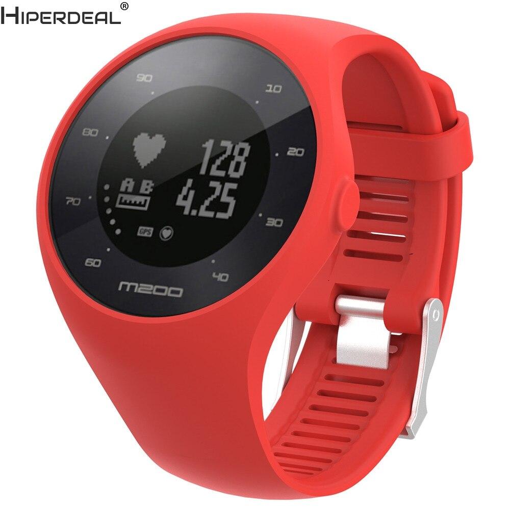 HIPERDEAL Weichen Silikon Gummi Uhr Band Handgelenk Gurt Für Polar M200 Fitness uhr