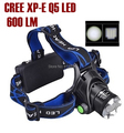 AloneFire HP79 outdoor tactical cree led Head light CREE Q5 LED 600Lumens Zoom LED Headlamp light For 2x18650 Battery