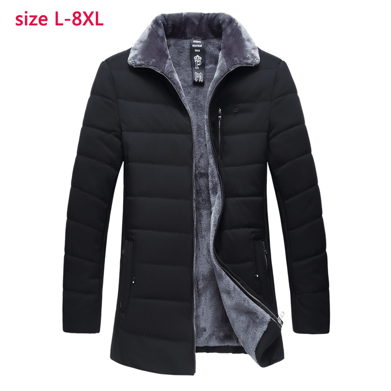 new arrival fashion Winter Men velvet Padded Clothes Casual Thick Winter Coat Male high quality plus size LXL-4XL5XL6XL7XL8XL