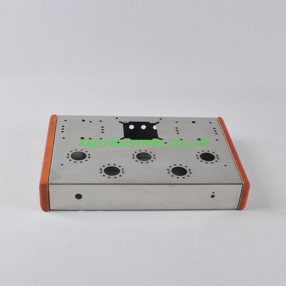 1pc EL34 Tweed Deluxe Stainless Steel Chassis EL34 6550 KT88 KT66 tube amplifier DIY цена
