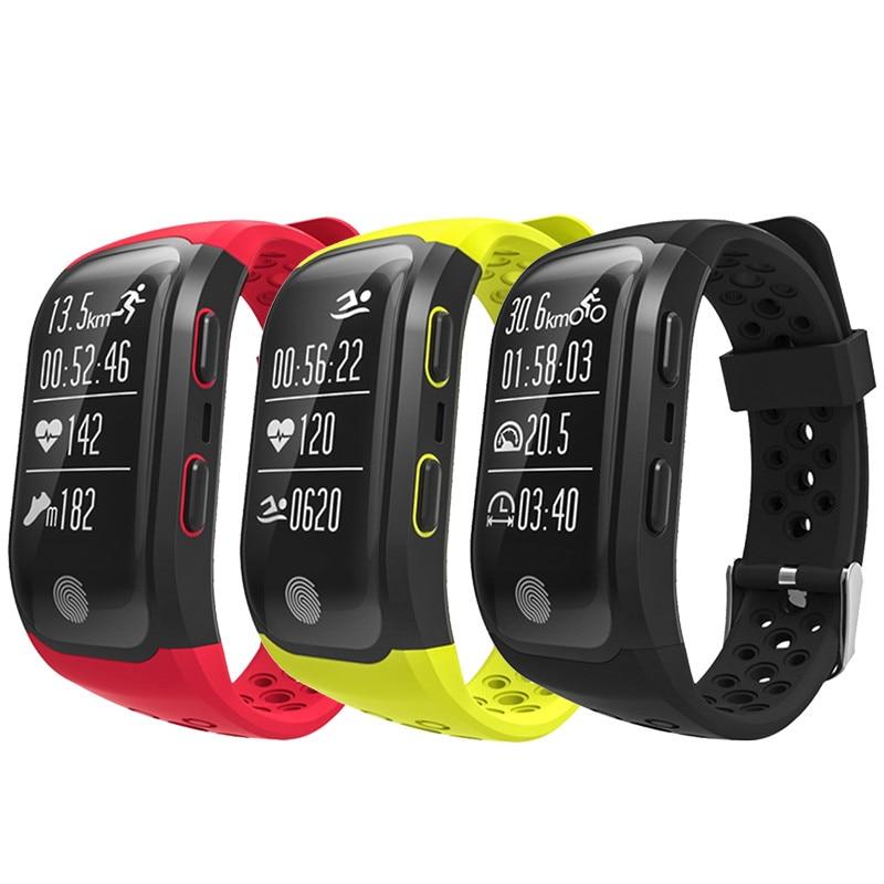 Smart Wristband  Bluetooth GPS Tracker Wristband IP68 Waterproof Smart Bracelet Heart Rate Monitor Fitness Tracker Smart Watch smart baby watch q60s детские часы с gps голубые