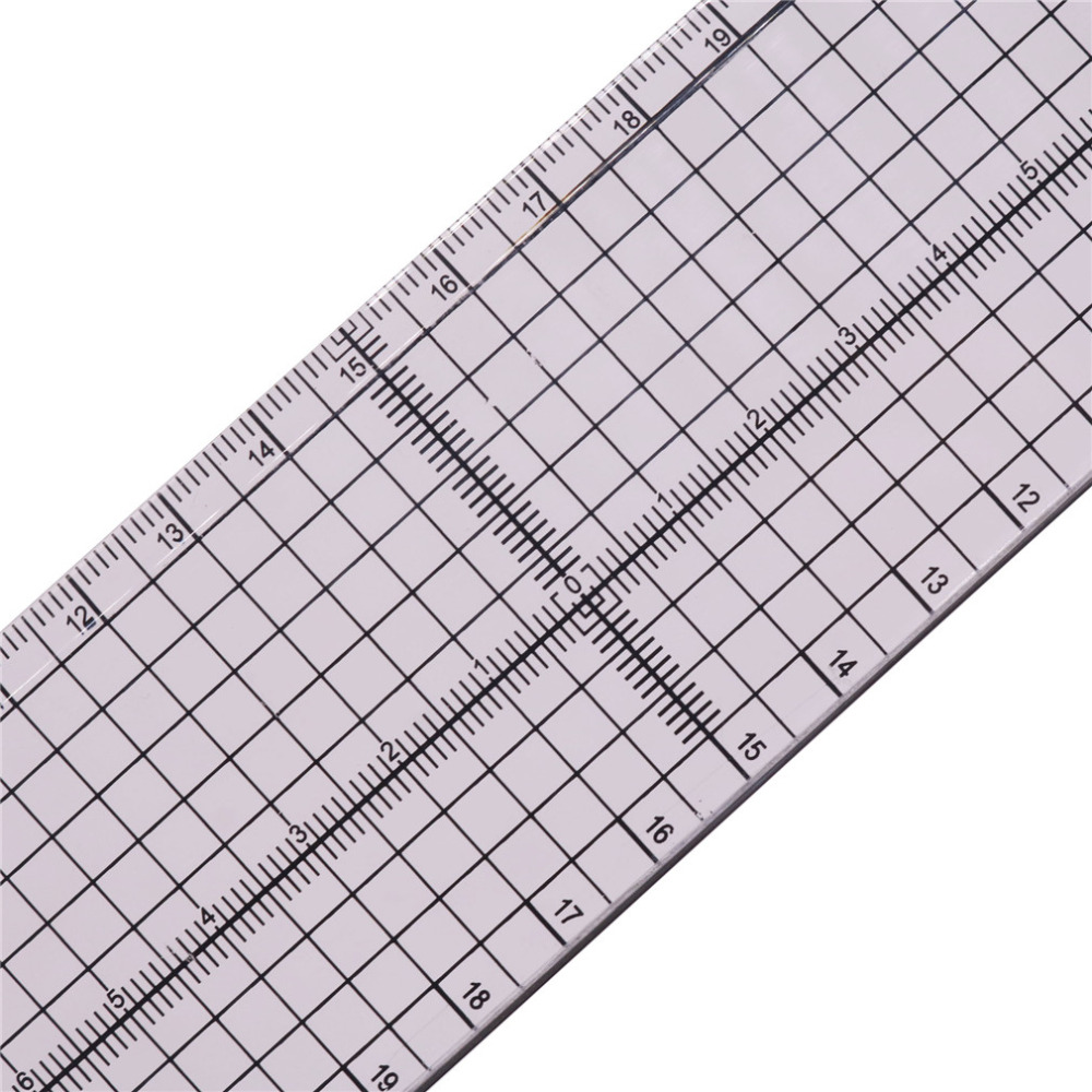 1 Pcs / Lot 5 * 30cm Patchwork Ruler DIY Hand Tool Tailoring Foot High-grade Sewing Tool Acrylic Material Scale Clear