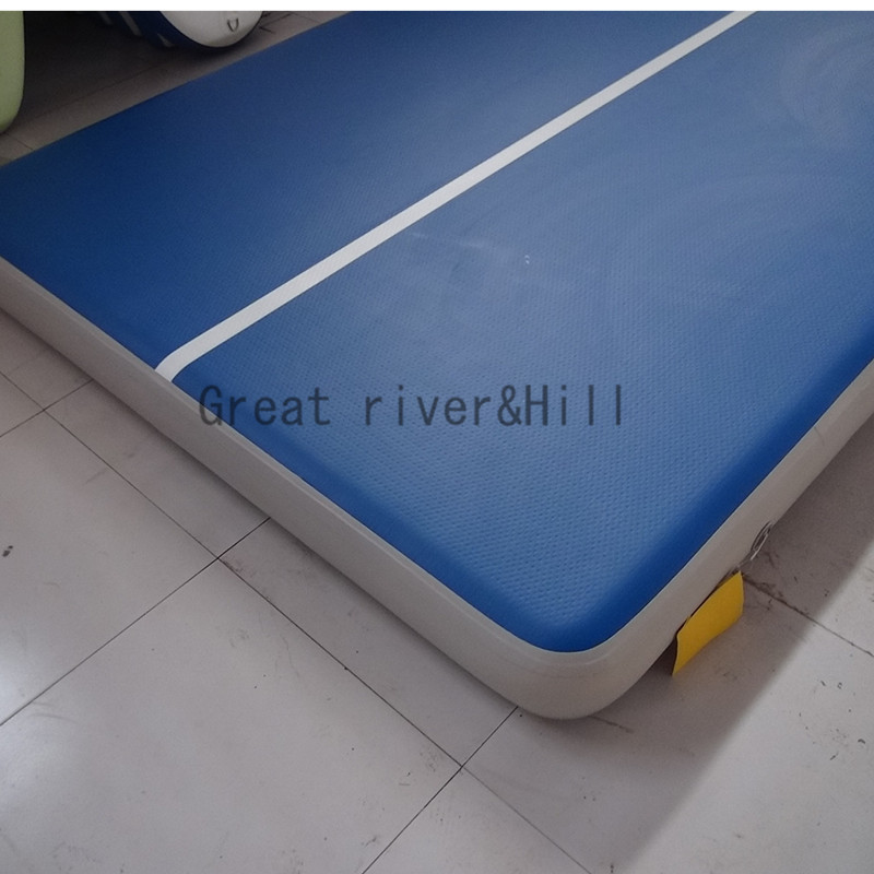 Great river hill gymnastic air tracks inflatable air gym mat air flooring fedex shipping and import tax includ 4m x 2m x 0.2m