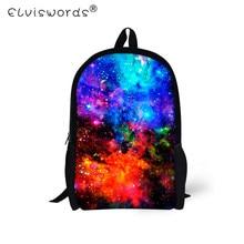ELVISWORDS Galaxy Star School Bags for Girls 3D Universe Space Printing  School Backpack Kids Mochila Boys a3a53f11bf571