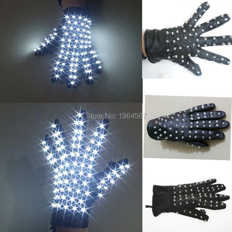 free shipping halloween led stage wreless led gloves luminous gloves for michael jackson billie jean