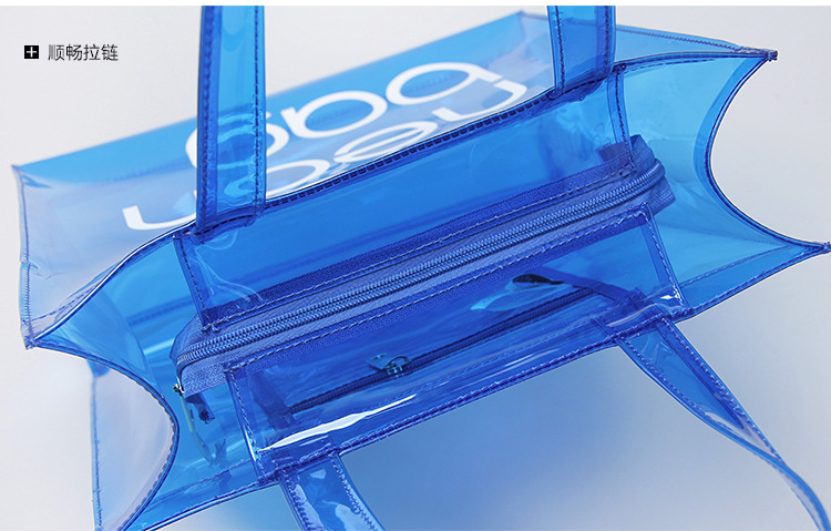 Compliant Clear Stadium Security Zippered Shoulder Bag Travel Gym Tote By Bags For Less Sturdy PVC Construction with External P