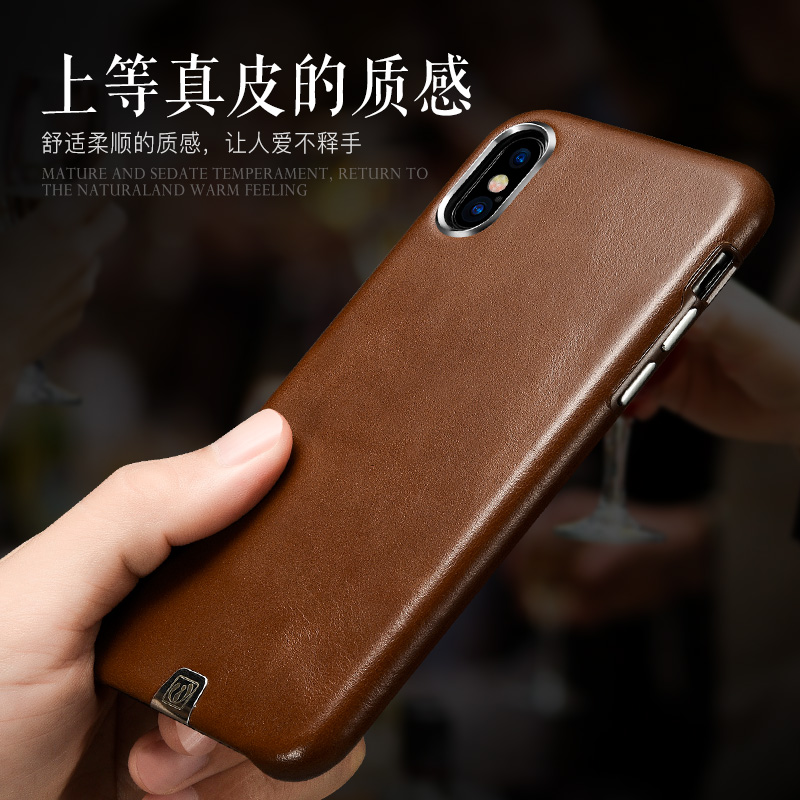 premium selection d51d7 3e899 Original icarer brand genuine leather back cover for iphoneX real natural  cow skin case for iphone X free shipping 4 Colors