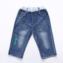 Новая модная летняя одежда для детей, джинсы для девочек, штаны для детей для маленьких мальчиков шорты милый мультяшный буквенный узор От 3 до 12 лет, джинсовые брюки для девочек