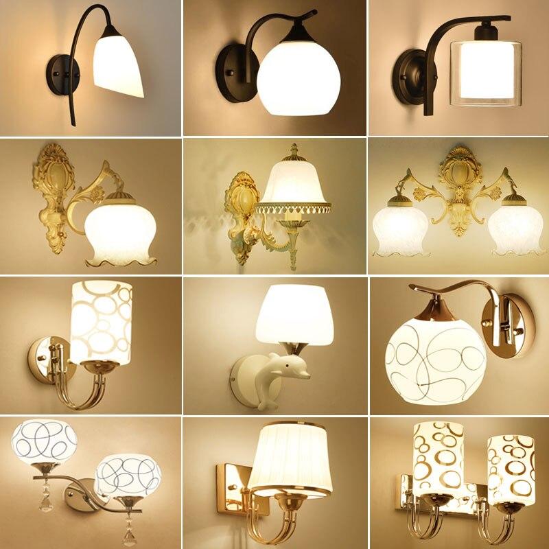 LED Wall Lamps Bed Room Bedside Lights Modern Corridor Lamp European American Indoor Lighting With E27 Led Bulbs WL01 стоимость