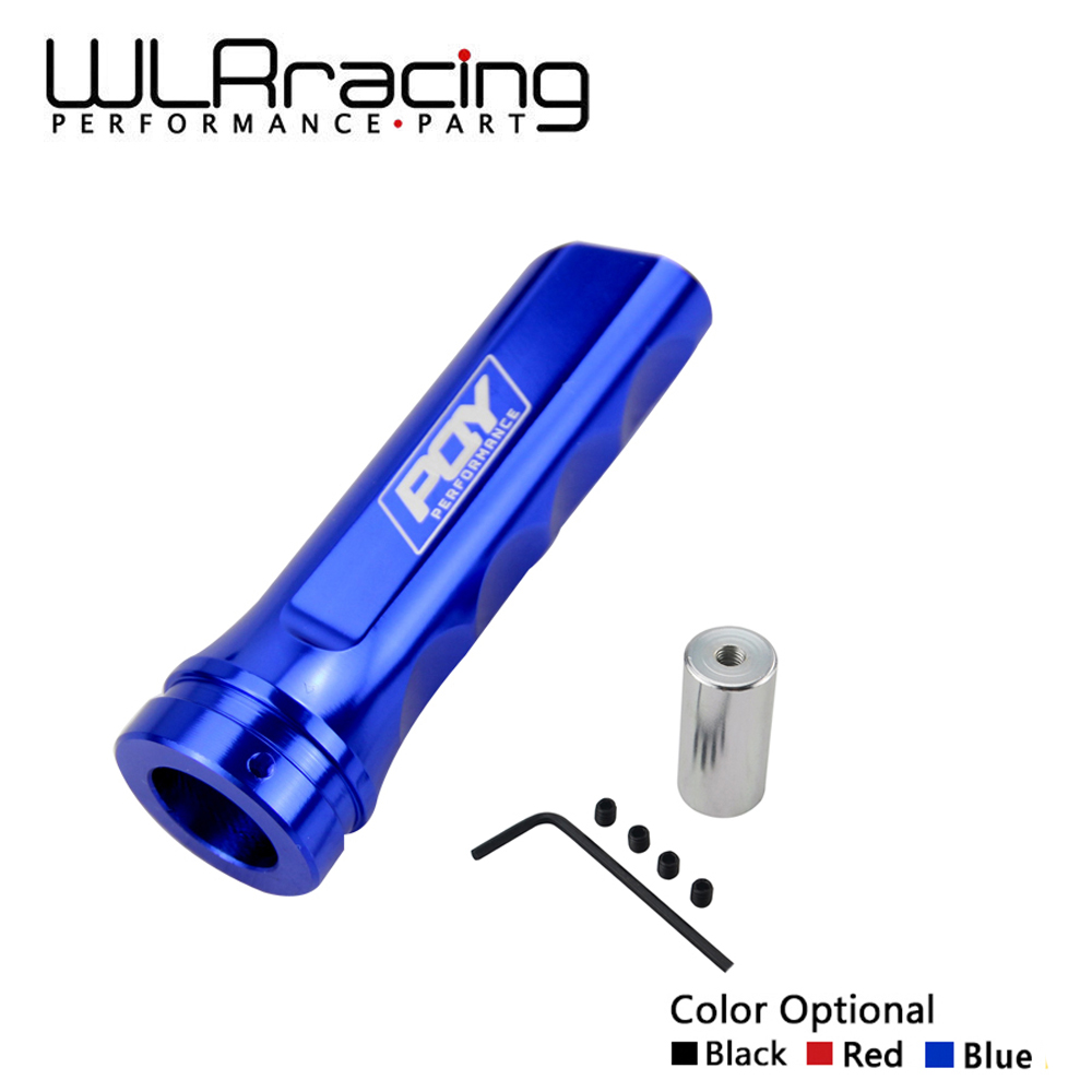 WLR RACING - Universal Auto Car Aluminum Hand Brake Sleeve Handbrake Handle Hand Protector Cover with PQY STICKER WLR-HBC11