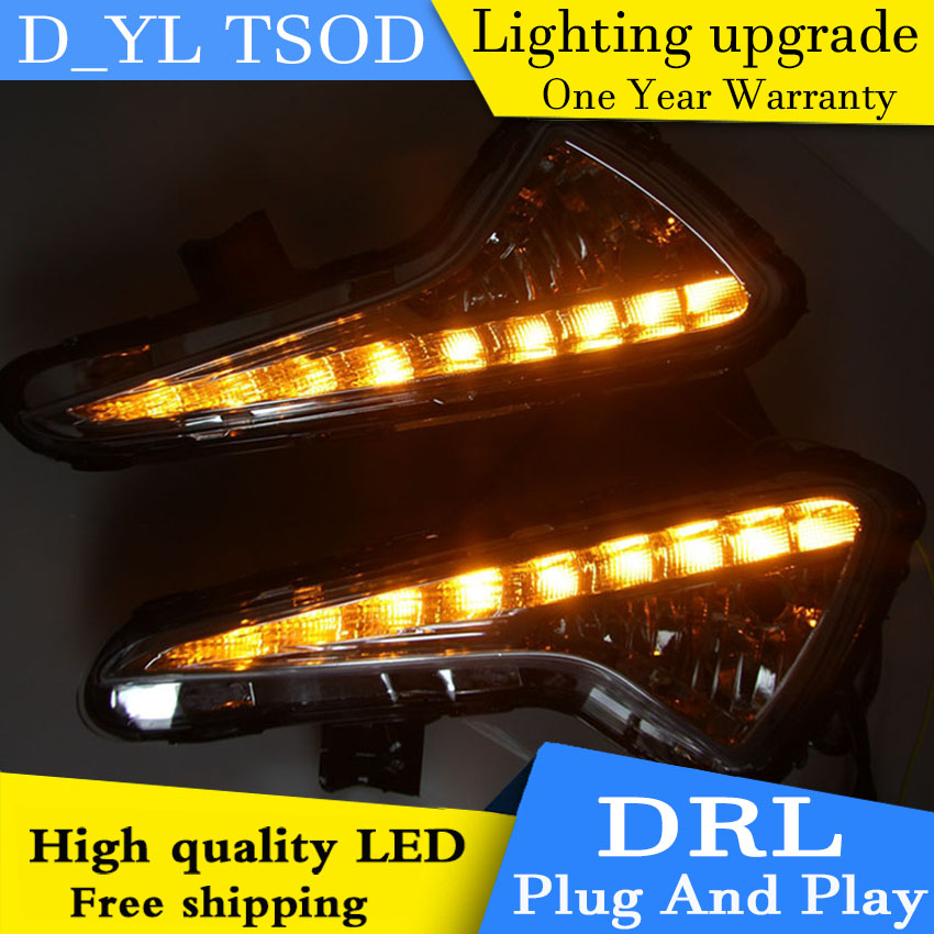 Car styling For Hyundai Accent 2014 LED DRL For led fog lamps daytime running High brightness