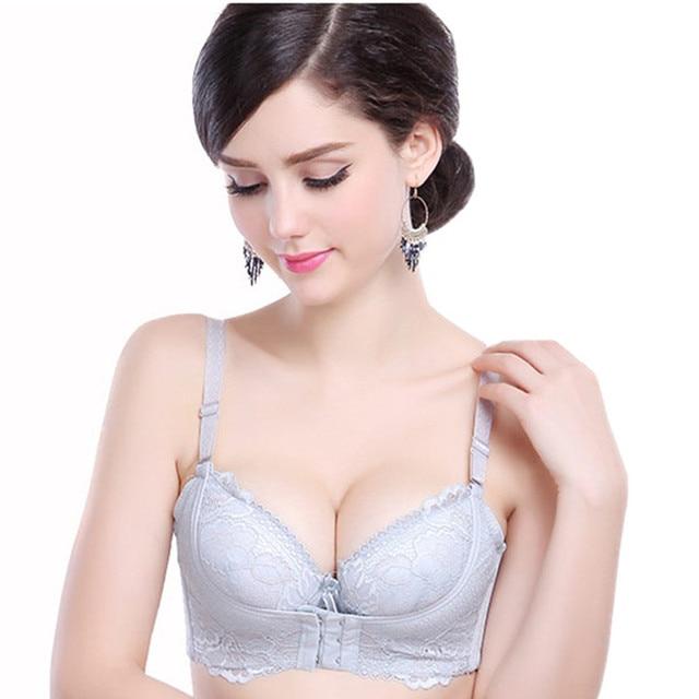7dd9e5b210 Push Up Bra Small Breast Bras For Women Underwear Thick Super Push Up Water Brassiere  Sexy Lace 32 36 A B Cup Female Bra