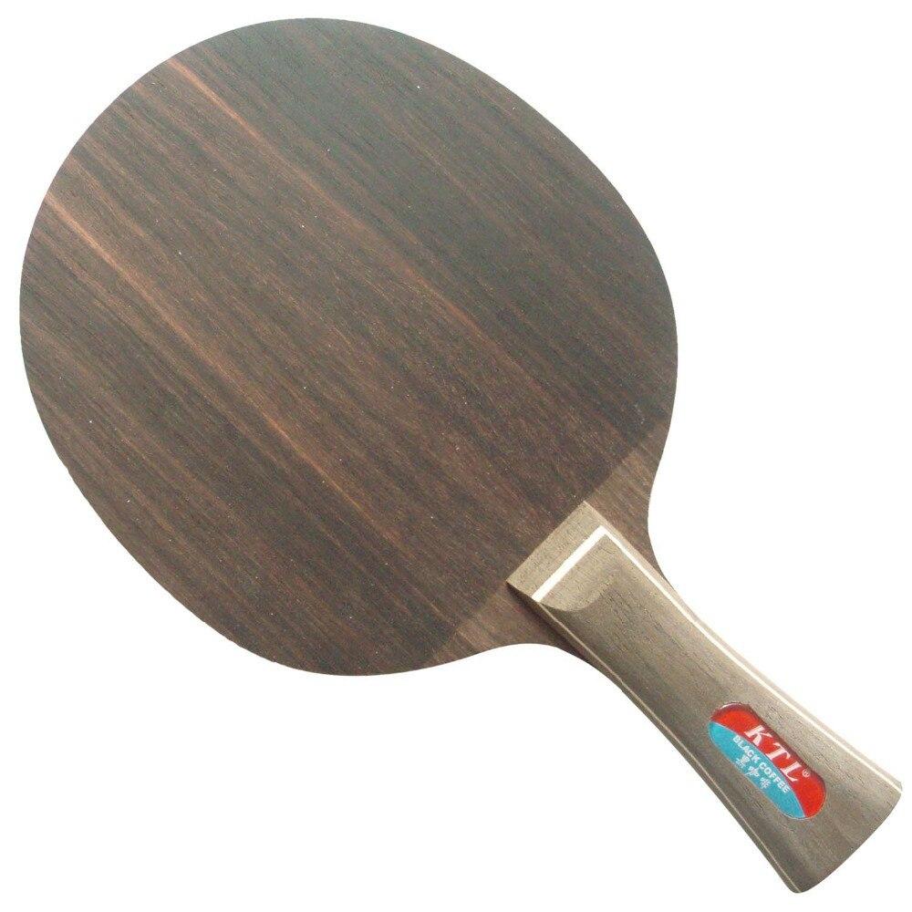 КТЛ черное дерево 7 Скорость Черный Кофе Настольный теннис/пинг-понг лезвие
