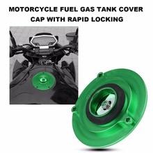 Мотоцикл топлива крышка бензобака Кепки с быстрым замок для KAWASAKI Z1000 Z800 Z750 ZZR1400 ER6N черный/зеленый