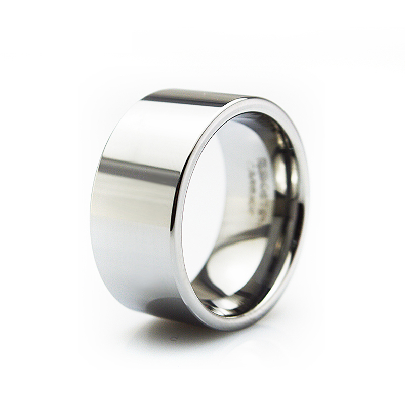 11mm Wide Men's Accessories Jewelry Silver Polished Tungsten Carbide Wedding Band Big Ring WTU069R