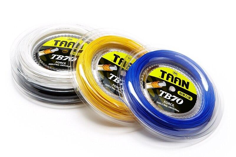 1 ROLL 200m TAAN TB70 0.7MM Flexibility Badminton Strings 4 COLORS